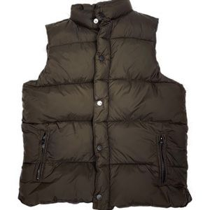 Old Navy Insulated Brown Sleeveless Puffer Vest L
